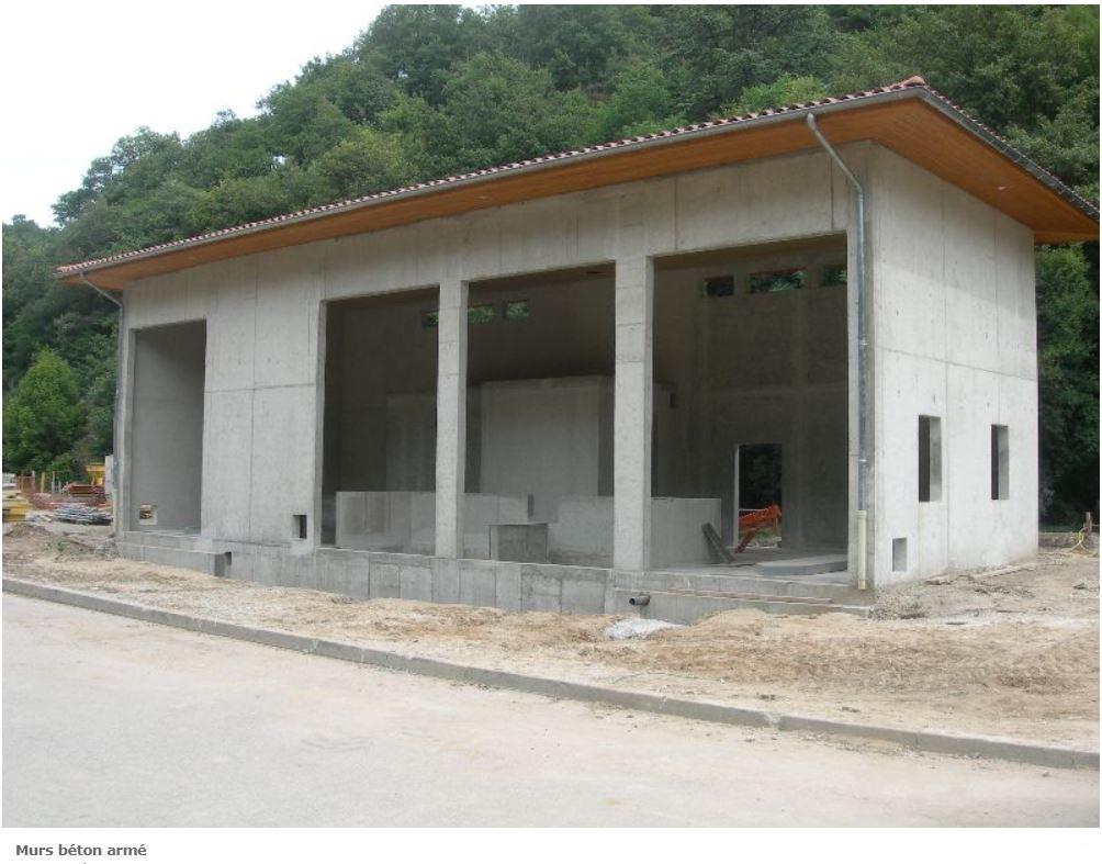 murs betons armée